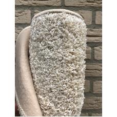Wit Crème kleur Hoogpolig vloerkleed  170 x 230 cm