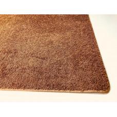 Bruin roestkleur hoogpolig |105 x 200 cm