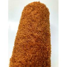 Oranje bruin hoogpolig vloerkleed |80 x 200 cm