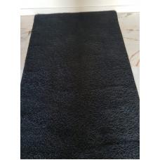 zwart hoogpolig vloerkleed |115 x 395 cm
